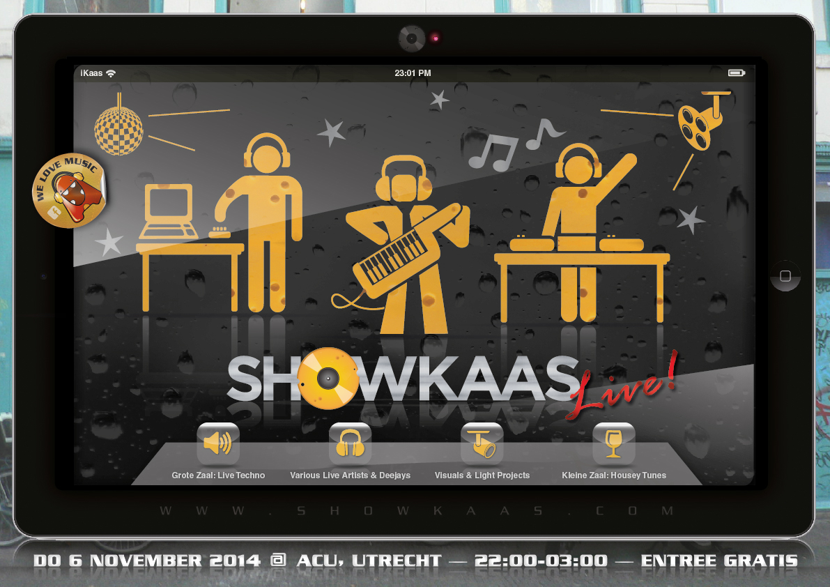 Showkaas Live! Flyer